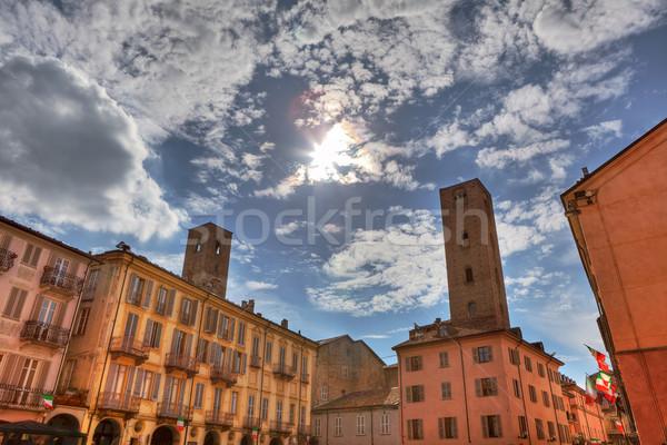 İtalya eski evler eski Stok fotoğraf © rglinsky77
