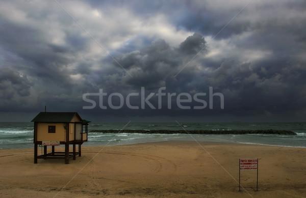 Orageux ciel mer vue vide Photo stock © rglinsky77