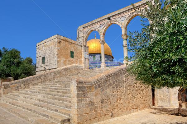 Koepel rock moskee Jeruzalem Israël steen Stockfoto © rglinsky77
