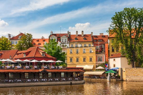 красочный домах Прага типичный реке Чешская республика Сток-фото © rglinsky77