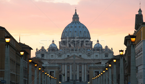 Stock photo: Saint Peter Basilica, Vatican.