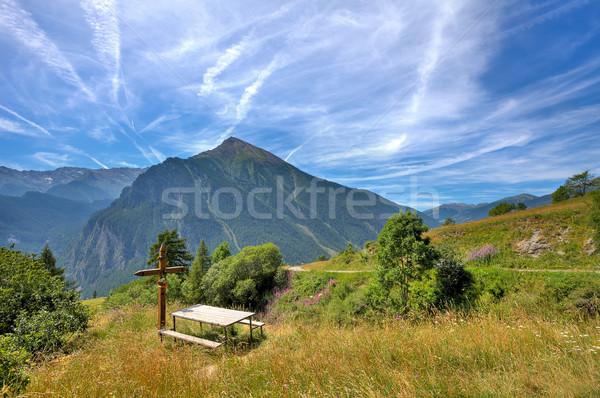 Alpino prado montanha norte Itália pequeno Foto stock © rglinsky77