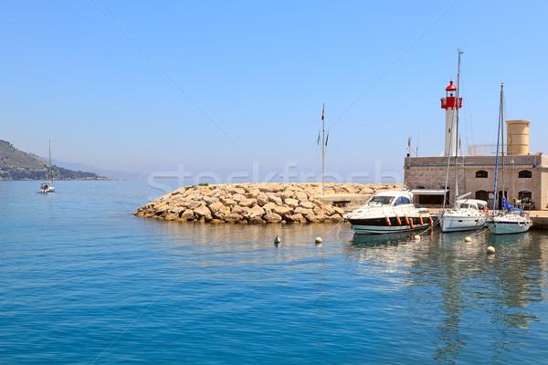 Entrada marina França barco pequeno farol Foto stock © rglinsky77