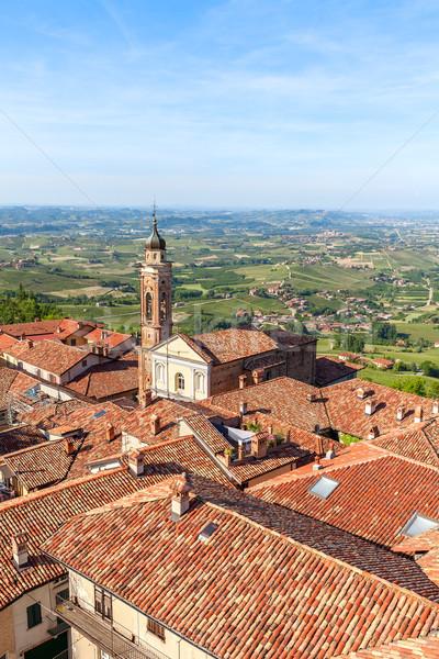 赤 屋根 町 ラ イタリア 教会 ストックフォト © rglinsky77