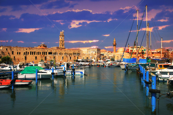 Old harbor. Acre, Israel. Stock photo © rglinsky77