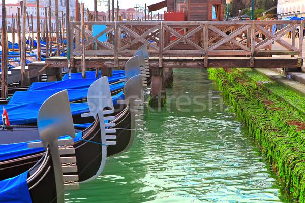 Canal Veneza pier escada Foto stock © rglinsky77