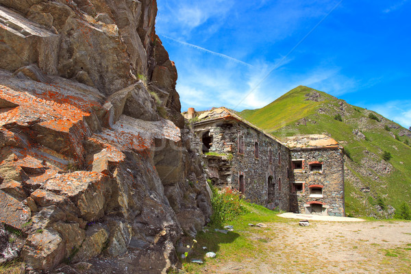 Military alpine fort in Alps, Italy. Stock photo © rglinsky77