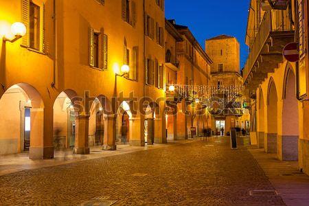 старый город вечер узкий пешеход улице Сток-фото © rglinsky77