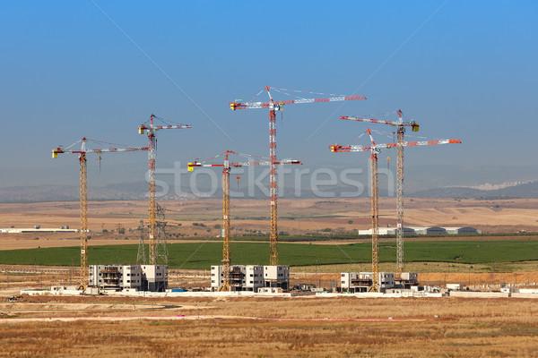 Budowa nowego sąsiedztwo miasta pracy krajobraz Zdjęcia stock © rglinsky77