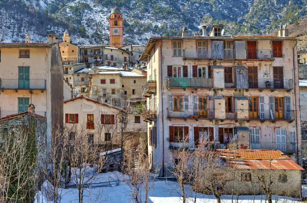 Piccolo francese città alpi vecchio case Foto d'archivio © rglinsky77