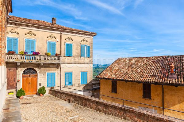 Colorato casa piccolo italiana città facciata Foto d'archivio © rglinsky77