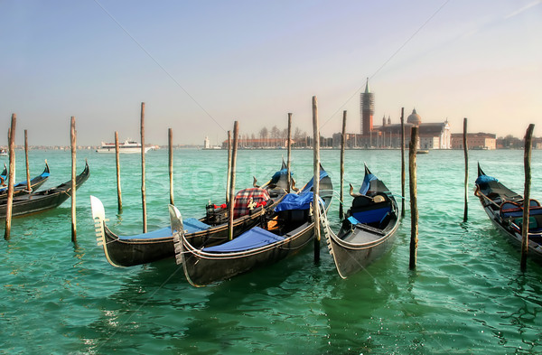 Gondolas on Grand Canal. Stock photo © rglinsky77