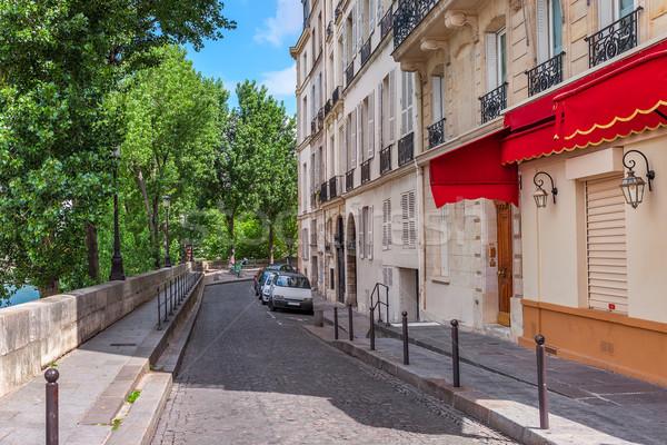 типичный тихий улице Париж Франция узкий Сток-фото © rglinsky77