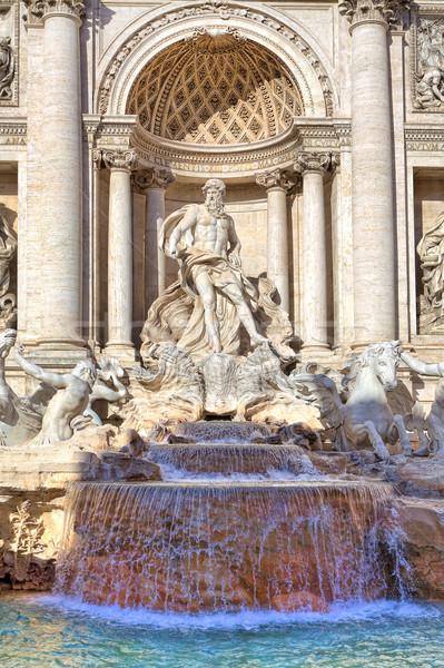 Stok fotoğraf: Trevi · Çeşmesi · Roma · İtalya · dikey · parça · ünlü