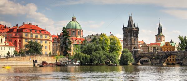 Prag panoramik görmek eski su şehir Stok fotoğraf © rglinsky77
