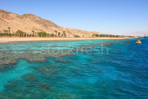 Red mountains and beautiful sea. Stock photo © rglinsky77