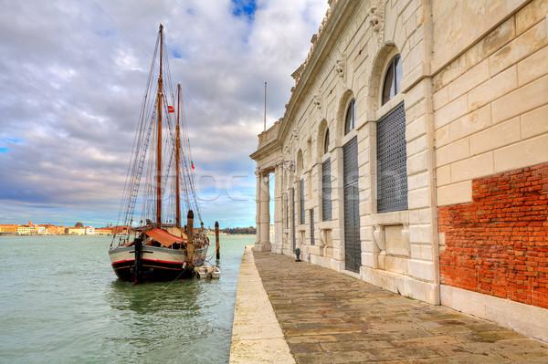 парусника Венеция Италия старые канал Сток-фото © rglinsky77