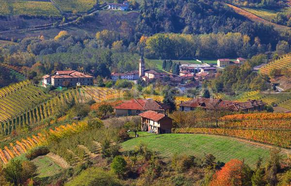 Küçük köy sonbahar İtalya tepeler kuzey Stok fotoğraf © rglinsky77