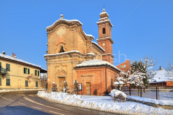 Eski kilise yol İtalya tuğla Stok fotoğraf © rglinsky77