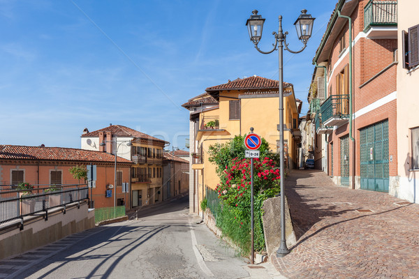 Small town of La Morra, Italy. Stock photo © rglinsky77