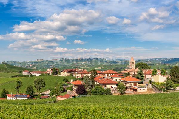 Piccolo italiana città piccola città verde bella Foto d'archivio © rglinsky77