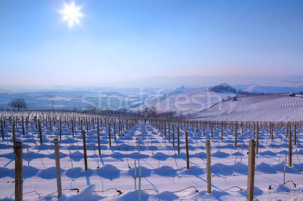 İtalya görmek tepeler mavi gökyüzü güneş Stok fotoğraf © rglinsky77