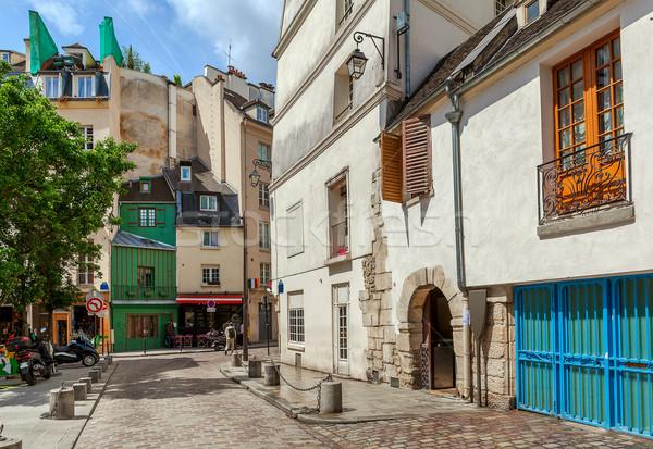 Париж Франция мнение узкий улице Сток-фото © rglinsky77