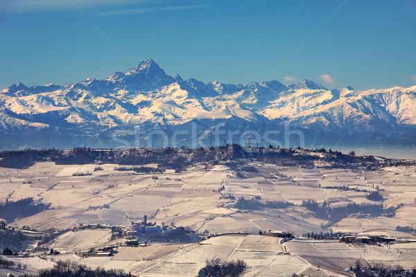 Piedmont snowy hills. Stock photo © rglinsky77