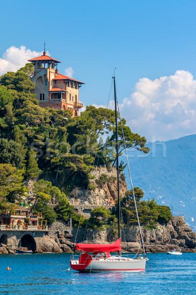Foto stock: Italia · yate · mar · hermosa · edad · Villa