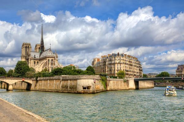 Notre Dame de Paris cathedral. Stock photo © rglinsky77