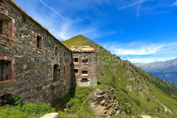 Abandonné militaire forteresse montagnes vieux montagne Photo stock © rglinsky77