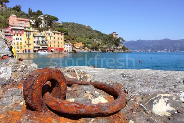 Ver pequena cidade Itália antigo porto mar Foto stock © rglinsky77