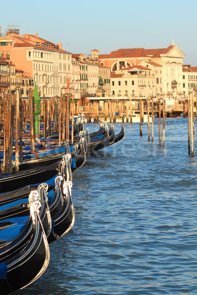 Gondolas on Grand Canal in Venice, Italy. Stock photo © rglinsky77
