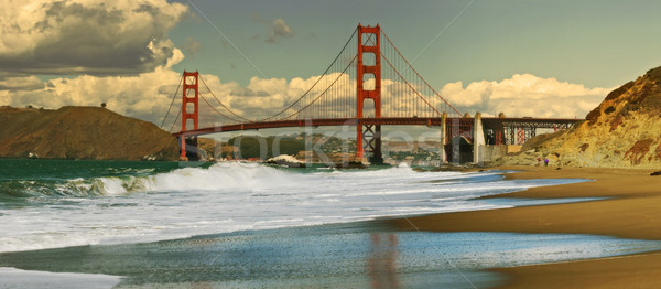 Panoramic view on Golden Gate bridge. Stock photo © rglinsky77