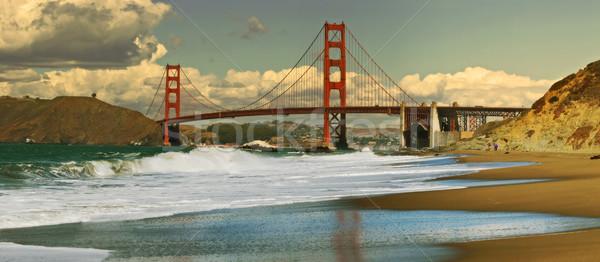 Panoramik görmek Golden Gate Köprüsü fırıncı plaj San Francisco Stok fotoğraf © rglinsky77