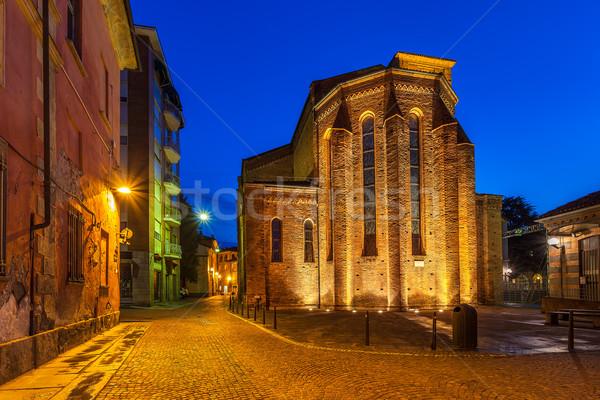 Kerk verlicht katholiek smal Stockfoto © rglinsky77