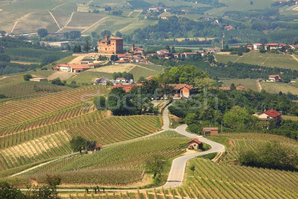 Foto stock: Ver · hills · norte · Itália · estrada · antigo