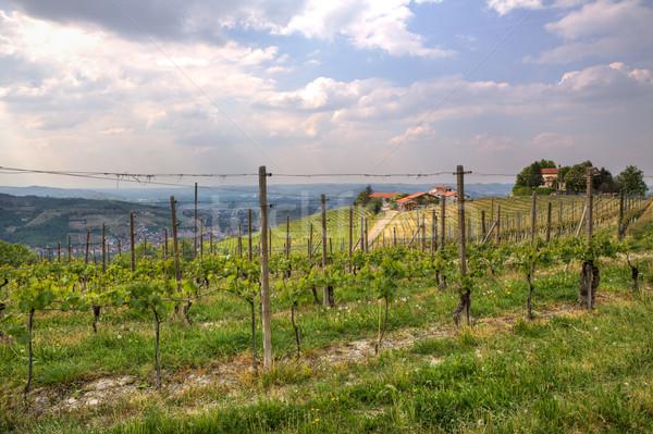 Ver hills Itália rural casas norte Foto stock © rglinsky77
