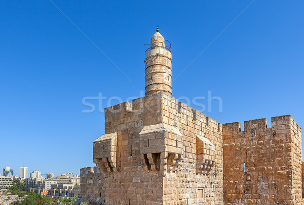 Tower of David in Jerusalem, Israel. Stock photo © rglinsky77