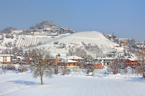 Village covered by snow in Piedmont, Italy. Stock photo © rglinsky77