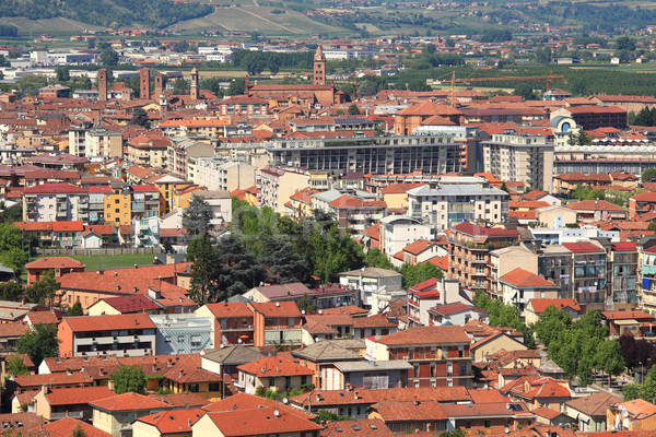 Aerial view on town of Alba. Stock photo © rglinsky77