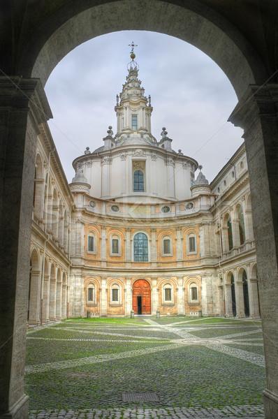 カトリック教徒 教会 ローマ イタリア 垂直 画像 ストックフォト © rglinsky77