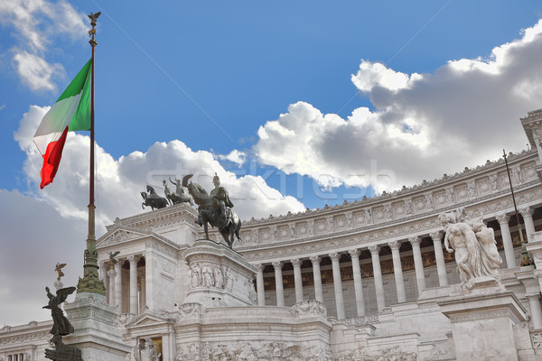 Victor Emmanuel II Monument. Rome, Italy. Stock photo © rglinsky77