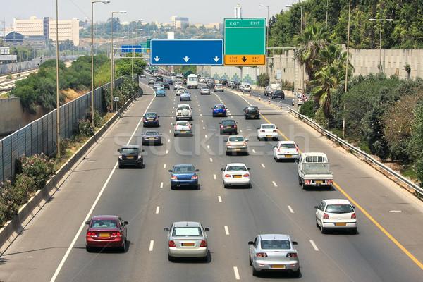 Auto-estrada tráfego Israel hora do rush carro Foto stock © rglinsky77