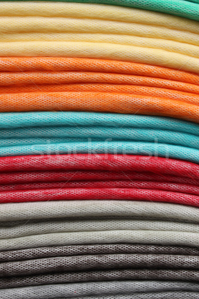 Stacked Colorful Blankets at the Market Stock photo © rhamm