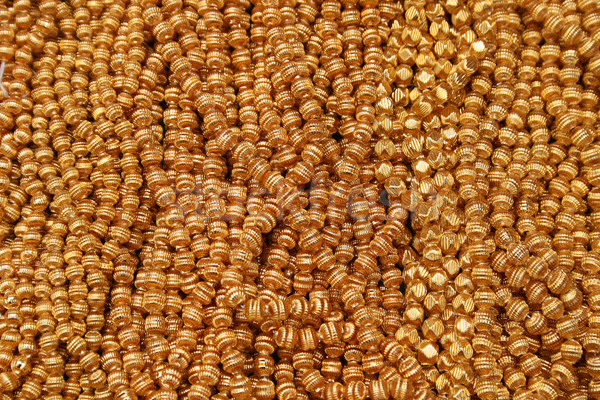 Gold Beads at the Otavalo Market Stock photo © rhamm