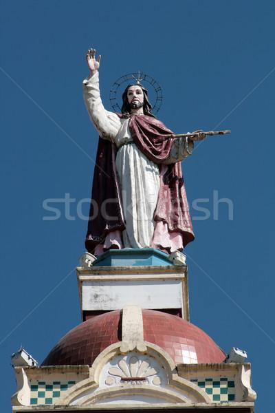 Christ Sculpture on La Matriz Church Stock photo © rhamm