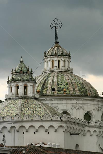 Domes of La Compania Church Stock photo © rhamm