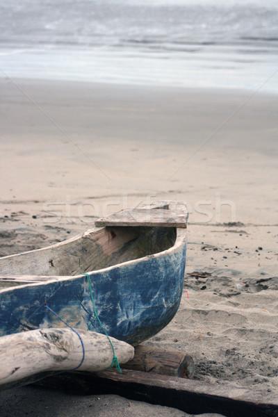 Praia oceano natureza areia barco Foto stock © rhamm