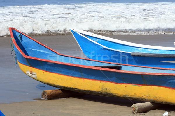 Dois pescaria barcos praia oceano Foto stock © rhamm